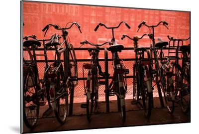 Bicycles at Centraal Station II-Erin Berzel-Mounted Photographic Print