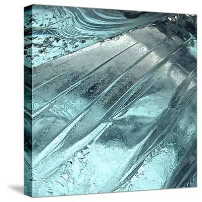 Blue Ice II-Monika Burkhart-Stretched Canvas Print