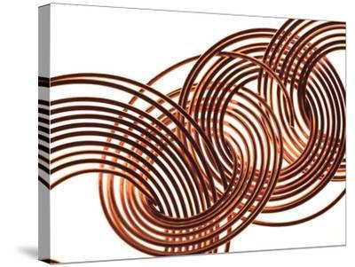Intertwined Gold VIII-Monika Burkhart-Stretched Canvas Print