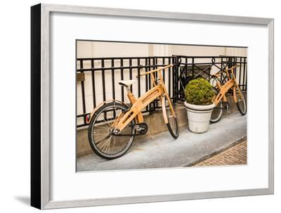 Wooden Bicycles in Amsterdam-Erin Berzel-Framed Photographic Print