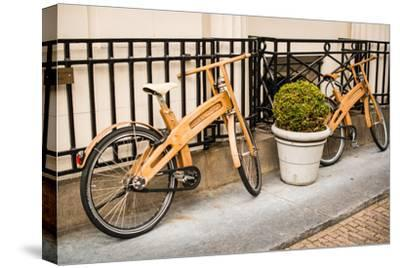 Wooden Bicycles in Amsterdam-Erin Berzel-Stretched Canvas Print