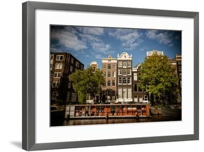 Amsterdam Canal Houses I-Erin Berzel-Framed Photographic Print