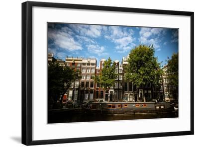 Amsterdam Canal Houses II-Erin Berzel-Framed Photographic Print
