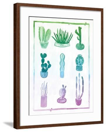 Ombre Cactus-Ashley Sta Teresa-Framed Art Print