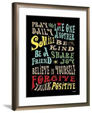 Words to Live by II-Todd Williams-Framed Art Print