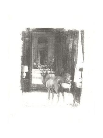 Deer II-Arielle Adkin-Framed Art Print