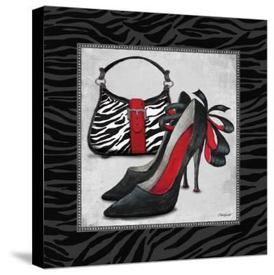 Zebra Fashion II-Todd Williams-Stretched Canvas Print