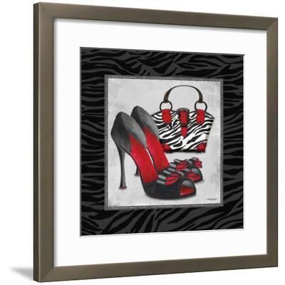 Zebra Fashion I-Todd Williams-Framed Art Print