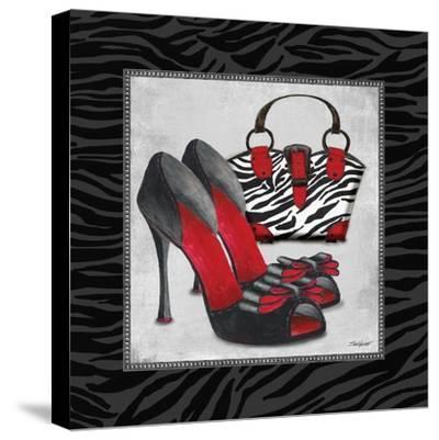 Zebra Fashion I-Todd Williams-Stretched Canvas Print