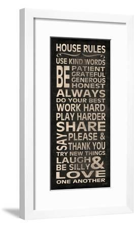 House Rules-N^ Harbick-Framed Art Print