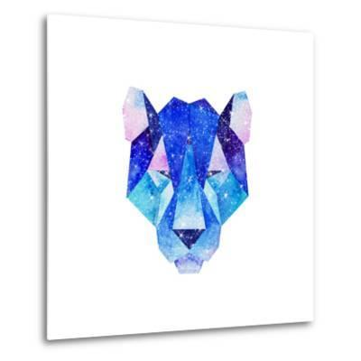 Watercolor Cosmic Animals. Hand Drawn Illustration-librebird-Metal Print