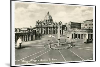 Basilica S Pietro-Alan Paul-Mounted Art Print