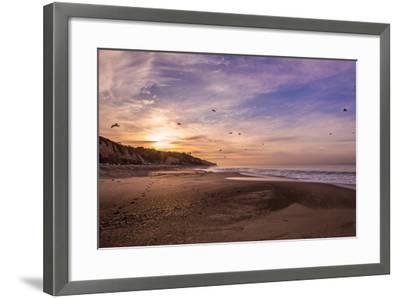 Morning Beach Walk-Sally Linden-Framed Photographic Print