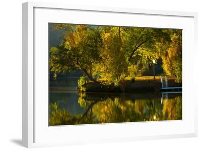 Fall at the Lake-Sally Linden-Framed Photographic Print