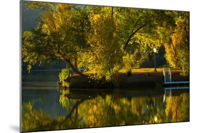 Fall at the Lake-Sally Linden-Mounted Photographic Print