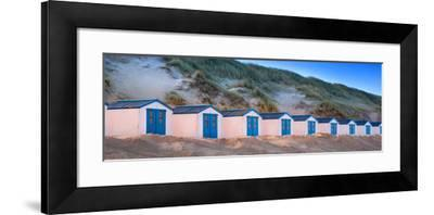 Netherlands, Holland, on the West Frisian Island of Texel, North Holland, Huts on the Beach-Beate Margraf-Framed Photographic Print