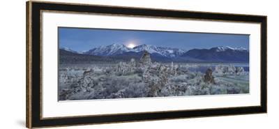 Moonrise, Tuff, Mono Lake, Sierra Nevada, California, Usa-Rainer Mirau-Framed Photographic Print