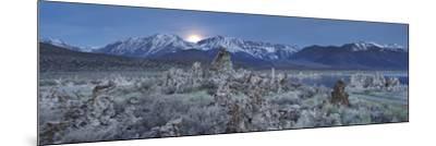 Moonrise, Tuff, Mono Lake, Sierra Nevada, California, Usa-Rainer Mirau-Mounted Photographic Print