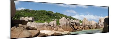 The Seychelles, La Digue, Beach, Rocks, Anse Marron, Panorama-Catharina Lux-Mounted Photographic Print