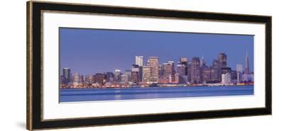 Skyline of San Francisco from Treasure Iceland, California, Usa-Rainer Mirau-Framed Photographic Print
