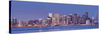 Skyline of San Francisco from Treasure Iceland, California, Usa-Rainer Mirau-Stretched Canvas Print