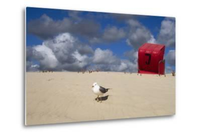 Red Beach Chair in the Dunes, Gull-Uwe Steffens-Metal Print
