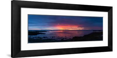 Panorama, Akranes, Sunset-Catharina Lux-Framed Photographic Print