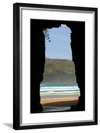 New Zealand, South Island, Cathedral Cave-Catharina Lux-Framed Photographic Print