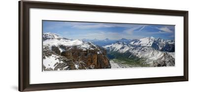 Italy, South Tyrol, the Dolomites, Sella, Marmolata, Panorama-Alfons Rumberger-Framed Photographic Print
