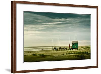 Germany, Schleswig-Holstein, Amrum, Sandy Beach, Sandbank, Kniepsand-Ingo Boelter-Framed Photographic Print