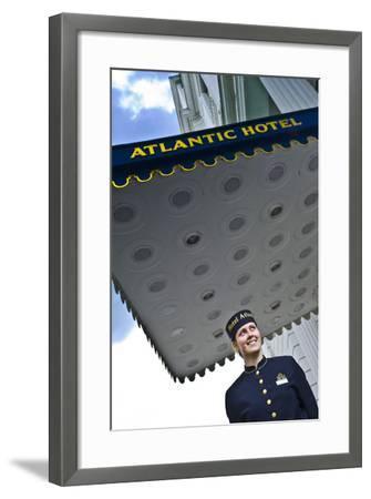Germany, Hamburg, St. Georg, Atlantic Hotel on the Inner Alster, Employees, Outside-Ingo Boelter-Framed Photographic Print