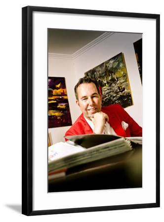 Germany, Hamburg, Elbe, Altes Land, Finkenwerder, Art, Art Scene, Artist-Ingo Boelter-Framed Photographic Print