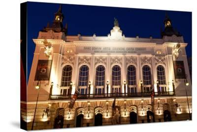 Berlin, Theater Der Westens, Dusk-Catharina Lux-Stretched Canvas Print