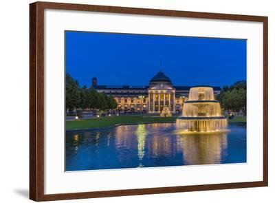 Germany, Hesse, Rheingau Region, Wiesbaden, Health Resort-Udo Siebig-Framed Photographic Print