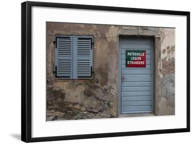 Europe, France, Corsica, Calvi, Entrance to the Foreign Legion-Gerhard Wild-Framed Photographic Print