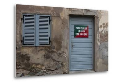 Europe, France, Corsica, Calvi, Entrance to the Foreign Legion-Gerhard Wild-Metal Print