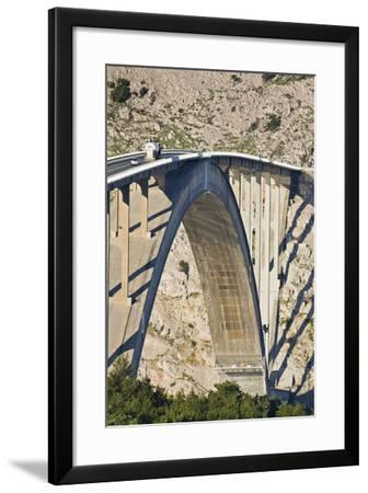 Croatia, Kvarner Gulf, Krk (Island), Bridge, Shade, Cars-Rainer Mirau-Framed Photographic Print