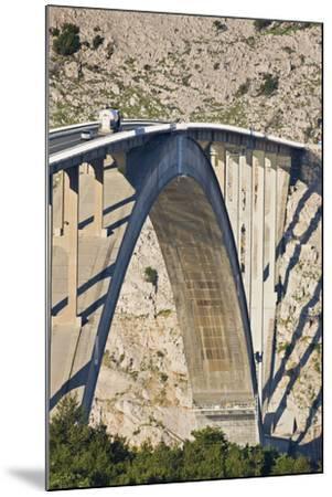 Croatia, Kvarner Gulf, Krk (Island), Bridge, Shade, Cars-Rainer Mirau-Mounted Photographic Print