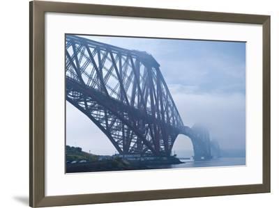 Scotland, Edinburgh, Forth Bridge, Fog-Thomas Ebelt-Framed Photographic Print