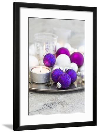 Christmas Decoration, Mauve, Pink-Andrea Haase-Framed Photographic Print