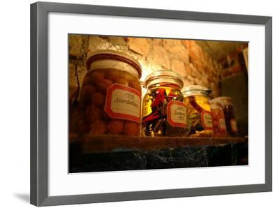 Cellars, Shelf, In-Mach-Glasses, Food, Motorcycle-Model- Fact-Framed Photographic Print