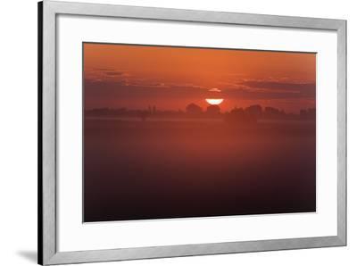 Austria, Burgenland, Neusiedlersee (Lake), Fertš National Park, Sunrise-Rainer Mirau-Framed Photographic Print