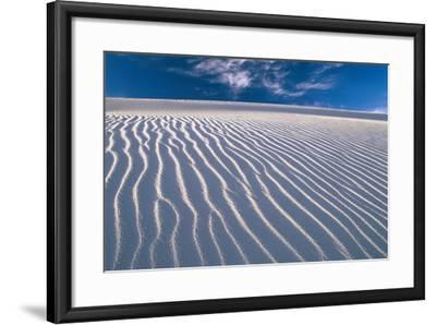 USA, New Mexico, of White Sand National Monument, Sand-Dunes, Knows Rippelmarken-Frank Lukasseck-Framed Photographic Print