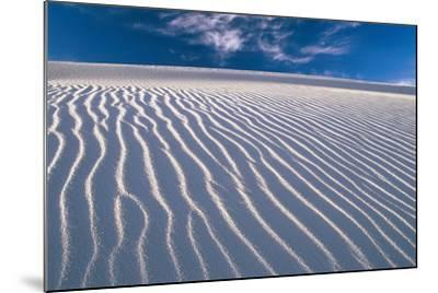 USA, New Mexico, of White Sand National Monument, Sand-Dunes, Knows Rippelmarken-Frank Lukasseck-Mounted Photographic Print