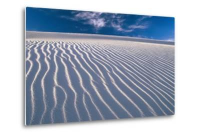 USA, New Mexico, of White Sand National Monument, Sand-Dunes, Knows Rippelmarken-Frank Lukasseck-Metal Print