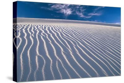 USA, New Mexico, of White Sand National Monument, Sand-Dunes, Knows Rippelmarken-Frank Lukasseck-Stretched Canvas Print