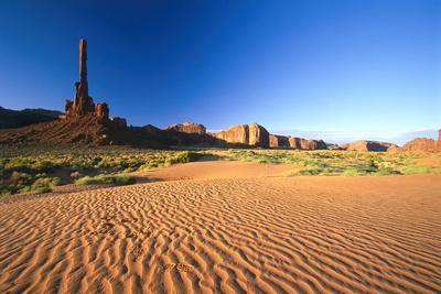 "USA, Utah, Monument Valley, Rock-Formation, ""Totem Poles-Frank Lukasseck-Framed Photographic Print"
