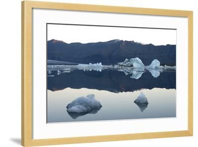 Icebergs, Glacier Lagoon Jškulsarlon, South Iceland-Julia Wellner-Framed Photographic Print