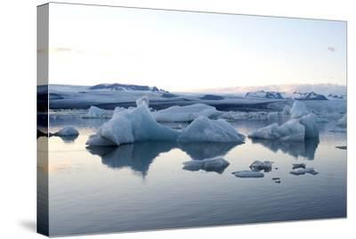 Icebergs, Glacier Lagoon Jškulsarlon, South Iceland-Julia Wellner-Stretched Canvas Print