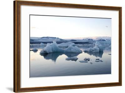 Icebergs, Glacier Lagoon Jškulsarlon, South Iceland-Julia Wellner-Framed Photographic Print
